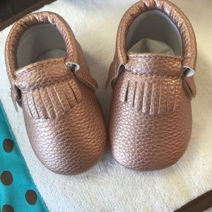 Shoes - Sweet n Swag Rose Gold Moccasins